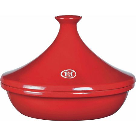 "Emile Henry 345632 12.6"" Round Ceramic Tagine w/ 3.7-qt Capacity, Flame"