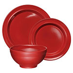 "Emile Henry 348807-3 Dinnerware Set w/ 6"" Cereal Bowl, 8"" Salad Plate & 11"" Dinner Plate, Burgundy"