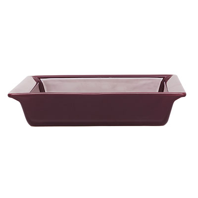 Emile Henry 372004 2-1/5 qt Ceramic Square Dish, 10 in Square, Figue Purple