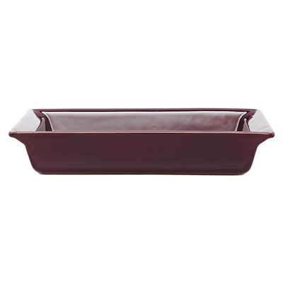 Emile Henry 379604 2 qt Ceramic Small Rectangular Dish, 11 x 8 in, Figue Purple