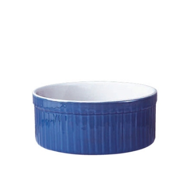 Emile Henry 531002 EA 6 oz Ceramic Stackable Ramekin, 3-1/2 in Diameter, Two-Tone, Azure Blue
