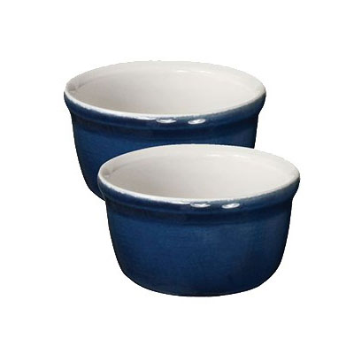 "Emile Henry 554020 3.5"" Round Ceramic Ramekin Set w/ 7.6-oz Capacity, Twilight"