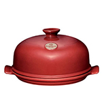 Emile Henry 615532 2-3/5 qt Ceramic Flame Top Tagine With Lid, Red