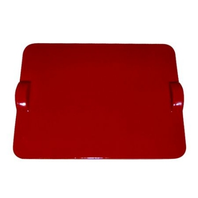 Emile Henry 617518 Rectangular Pizza Stone - Freezer to Oven, Ceramic, Rouge
