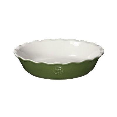 """Emile Henry 626121 9"""" Round Ceramic Pie Dish w/ 1.7-qt Capacity, Spring"""