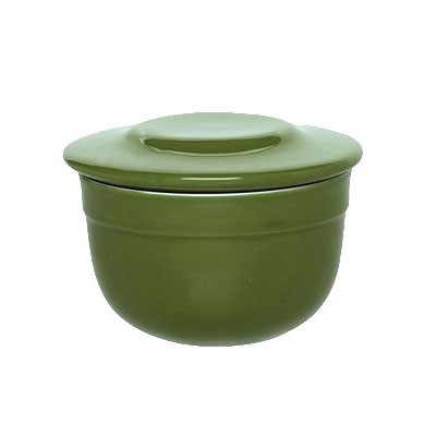 "Emile Henry 628621 4"" Round Ceramic Butter Pot w/ 7-oz Capacity, Spring"