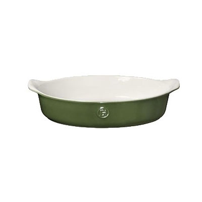 "Emile Henry 629022 12"" Oval Ceramic Baking Dish w/ 2.7-qt Capacity, Spring"