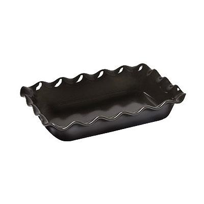 "Emile Henry 791987 3.3-qt Ceramic Baking Dish, 14x10x2.75"", Charcoal"