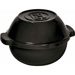 "Emile Henry 795500 9.4"" Round Ceramic Potato Pot w/ 2-qt Capacity, Charcoal"