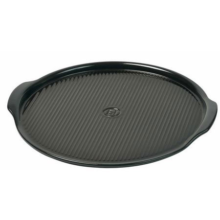 "Emile Henry 797612 12.6"" Medium Pizza Stone, Charcoal"