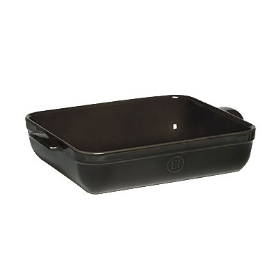 "Emile Henry 799642 Ceramic Lasagna Dish w/ 5-qt Capacity, 13.8x10x2.75"", Charcoal"