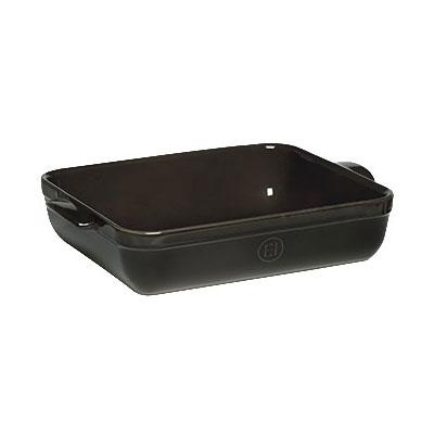 "Emile Henry 799644 6.3-qt Ceramic Baking Dish, 16.75x11x3"", Charcoal"
