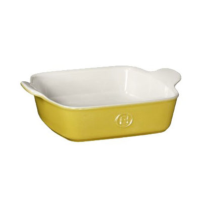 "Emile Henry 852023 8"" Square Ceramic Baking Dish w/ 2-qt Capacity, Leaves"
