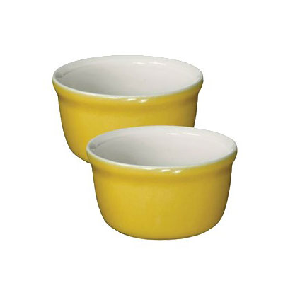 "Emile Henry 854020 3.5"" Round Ceramic Ramekin Set w/ 7.6-oz Capacity, Leaves"