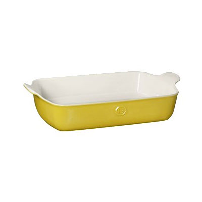 "Emile Henry 859626 4.7-qt Ceramic Baking Dish, 13x9"", Leaves"