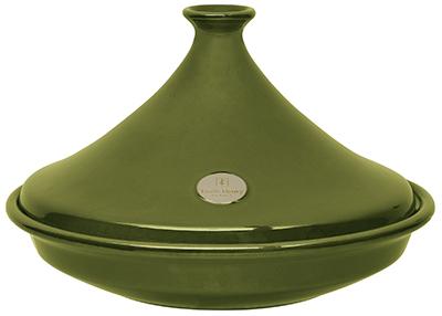Emile Henry 875535 14.5-in Tagine w/ 3.7-Quart Capacity, Olive