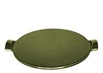 """Emile Henry 877512 12"""" Pizza Stone, Ceramic, Olive"""