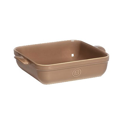 "Emile Henry 962040 9"" Square Ceramic Baking Dish - 2.5-qt Capacity, Oak"