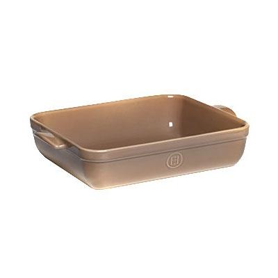 """Emile Henry 969644 6.3-qt Ceramic Baking Dish, 16.75x11x3"""", Oak"""