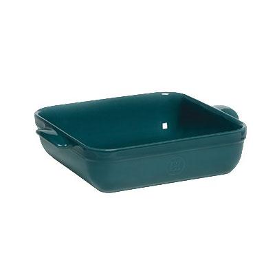 "Emile Henry 972040 9"" Square Ceramic Baking Dish w/ 2.5-qt Capacity, Blue Flame"