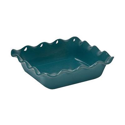 "Emile Henry 972087 9.5"" Square Ceramic Baking Dish w/ 1.8-qt Capacity, Blue Flame"