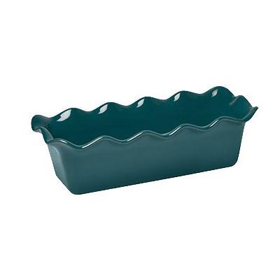 """Emile Henry 976387 2-qt Ceramic Loaf Pan, 12.5x6"""", Blue Flame"""