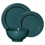 "Emile Henry 978807-3 Dinnerware Set w/ 6"" Cereal Bowl, 8"" Salad Plate & 11"" Dinner Plate, Blue Flame"