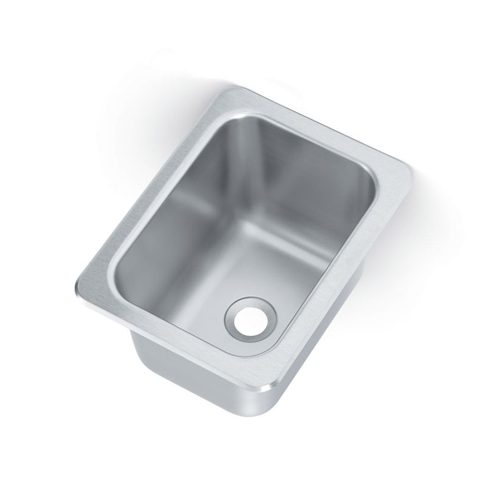 "Vollrath 101-1-2 (1) Compartment Drop-in Sink - 10"" x 14"""