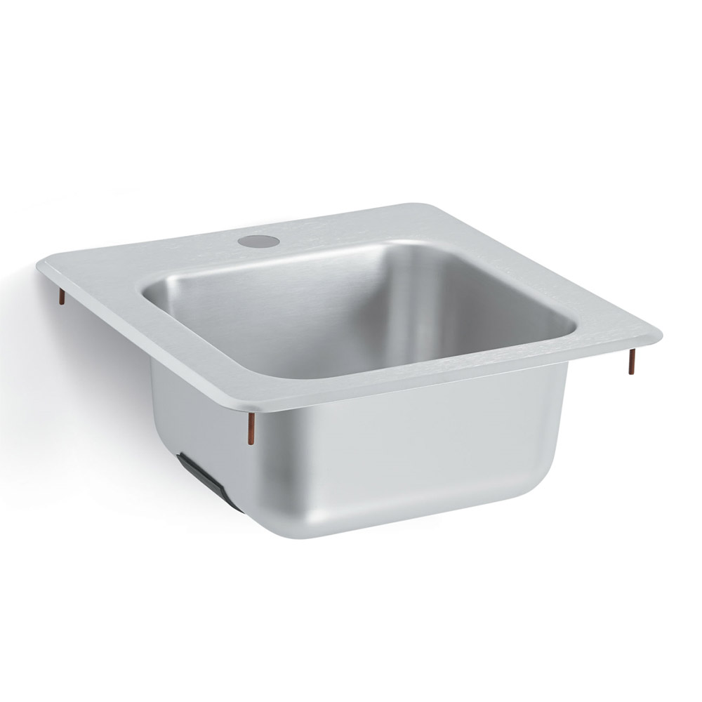 "Vollrath 1551 Drop-In Commercial Hand Sink w/ 11""L x 10""W x 6""D Bowl, Under Bar"