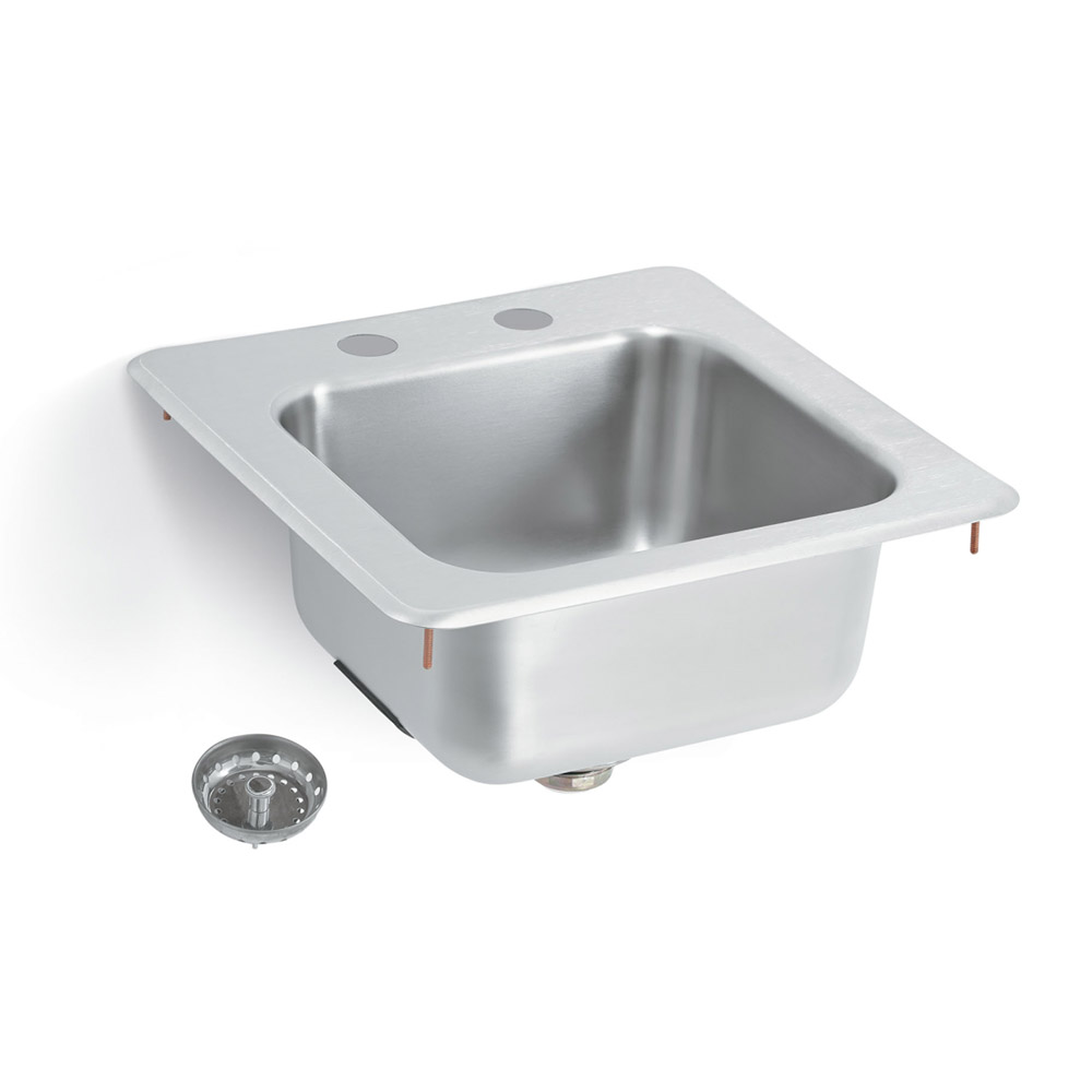 "Vollrath 1554-C Drop-In Commercial Hand Sink w/ 11""L x 10""W x 6.19""D Bowl, Under Bar"