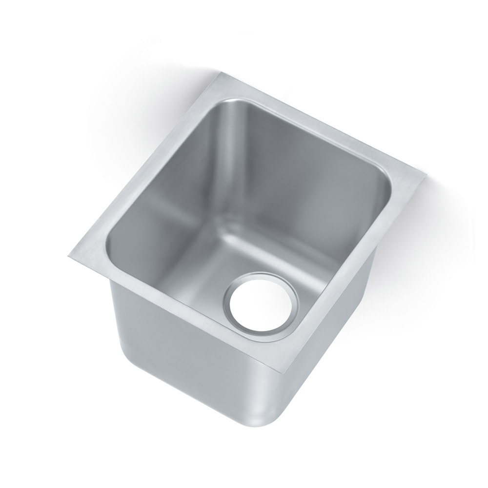 Vollrath 16141-1 Weld-In Undermount Sink, 1 Compartment, Square Corners