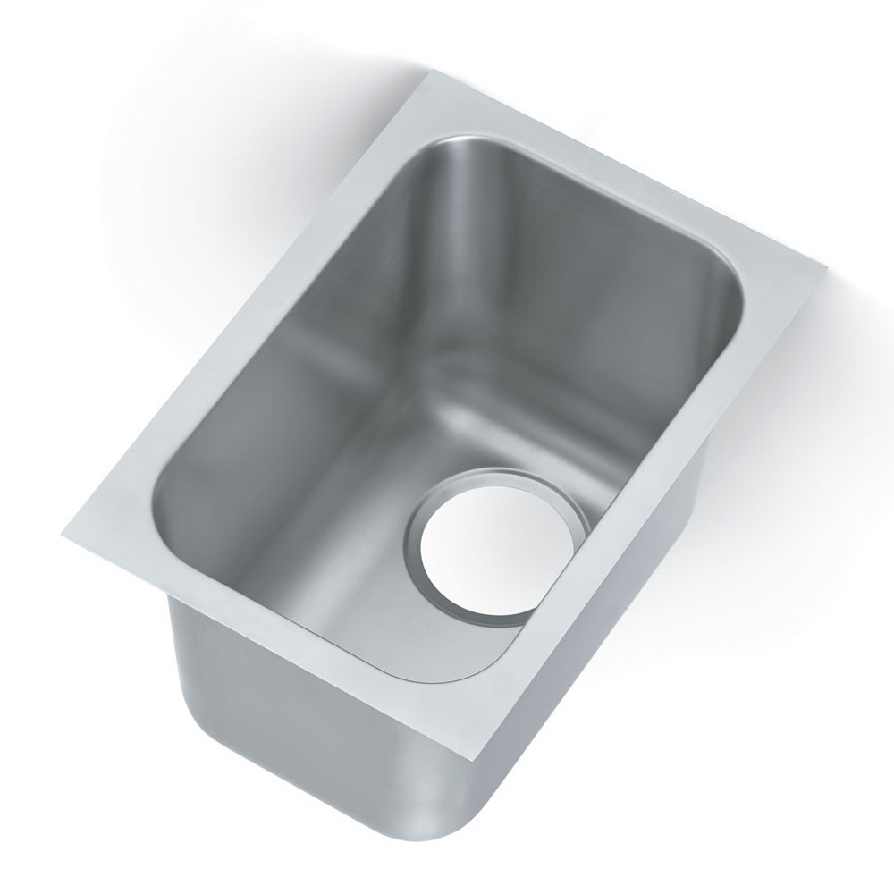 Vollrath 9101-1 1-Compartment Super Heavy Weight Weld-In Undermount Sink w/ Square Corners
