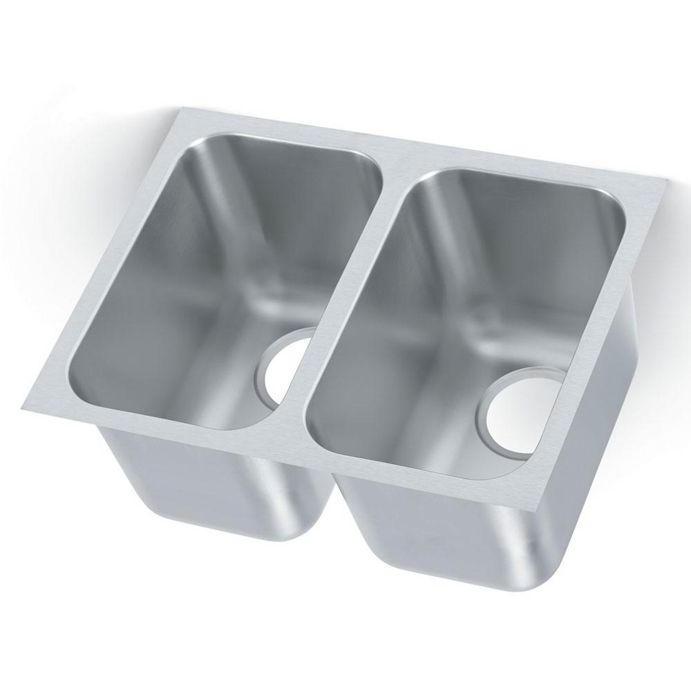 """Vollrath 9102-1 (2) Compartment Undermount Sink - 14"""" x 9"""""""
