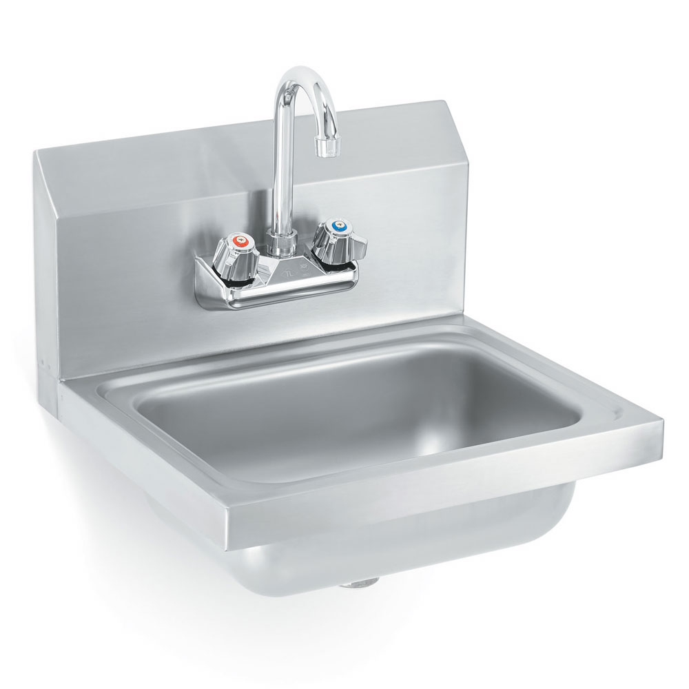 Vollrath K1410-C Yukon Hand Sink, Wall Mount, w/Gooseneck Faucet, Stainless Steel