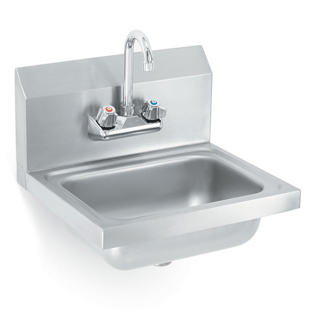 "Vollrath K1410-C Wall Mount Commercial Hand Sink w/ 17""L x 15""W x 5.5""D Bowl, Gooseneck Faucet"