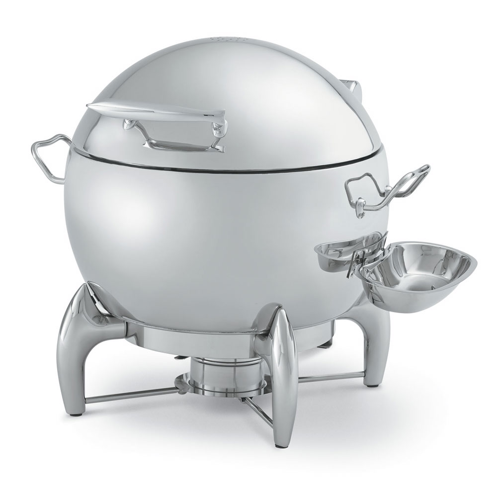 Vollrath T3633 Round Chafer  w/ Hinged Lid & Chafing Fuel Heat