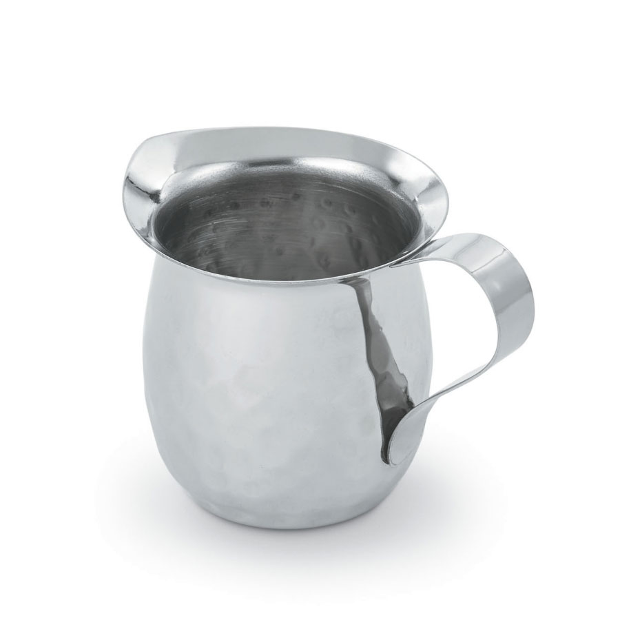 Vollrath T4030HH 3-oz Bell Shaped Creamer, Hand Hammered Stainless Steel