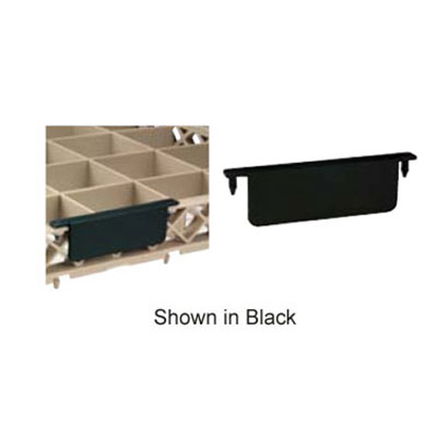 """Vollrath 1009-06 Code-A-Clips For Full Size Extender, 4-3/8 x 1-5/8"""", Plain, Black"""
