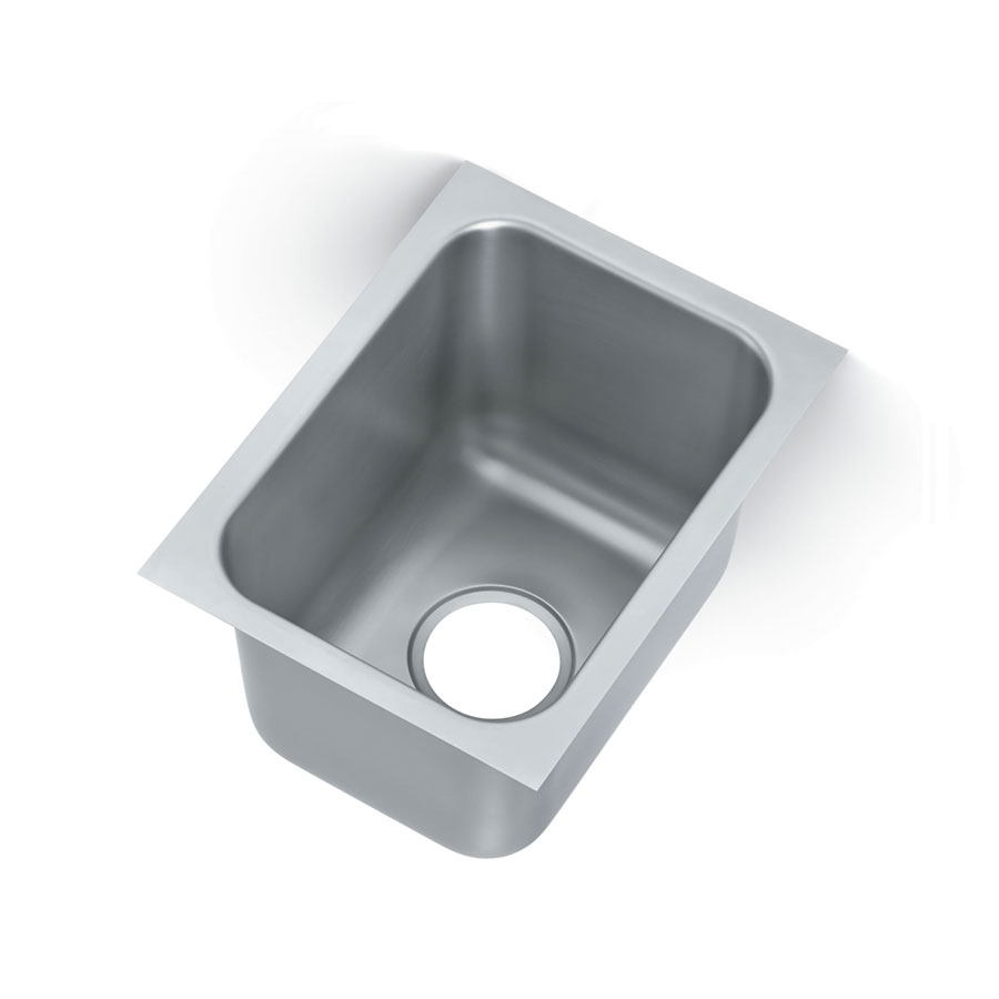 "Vollrath 10101-1P (1) Compartment Undermount Sink - 14"" x 10"", Drain Included"