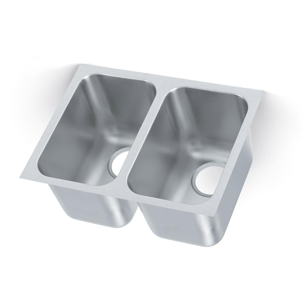 Vollrath 10102 1 2 compartment undermount sink 14 x 10 - Undermount 3 compartment kitchen sinks ...
