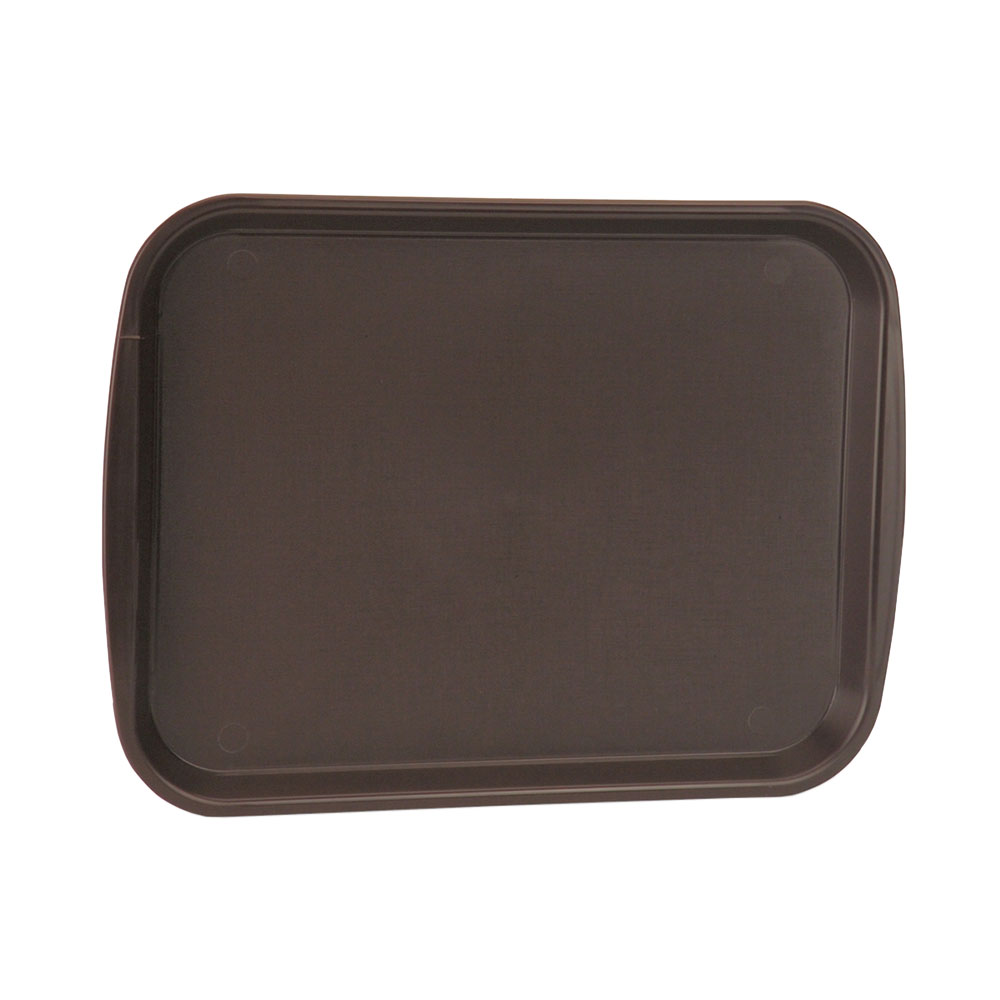 "Vollrath 1014-01 Rectangular Food Tray - Linen Look, 10-9/16 x 14-1/4"", Brown"