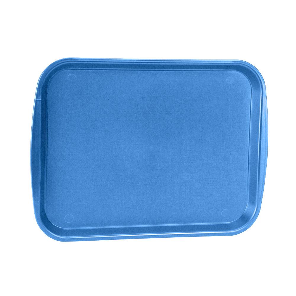 "Vollrath 1014-04 Rectangular Food Tray - Linen Look, 10-9/16 x 14-1/4"", Blue"