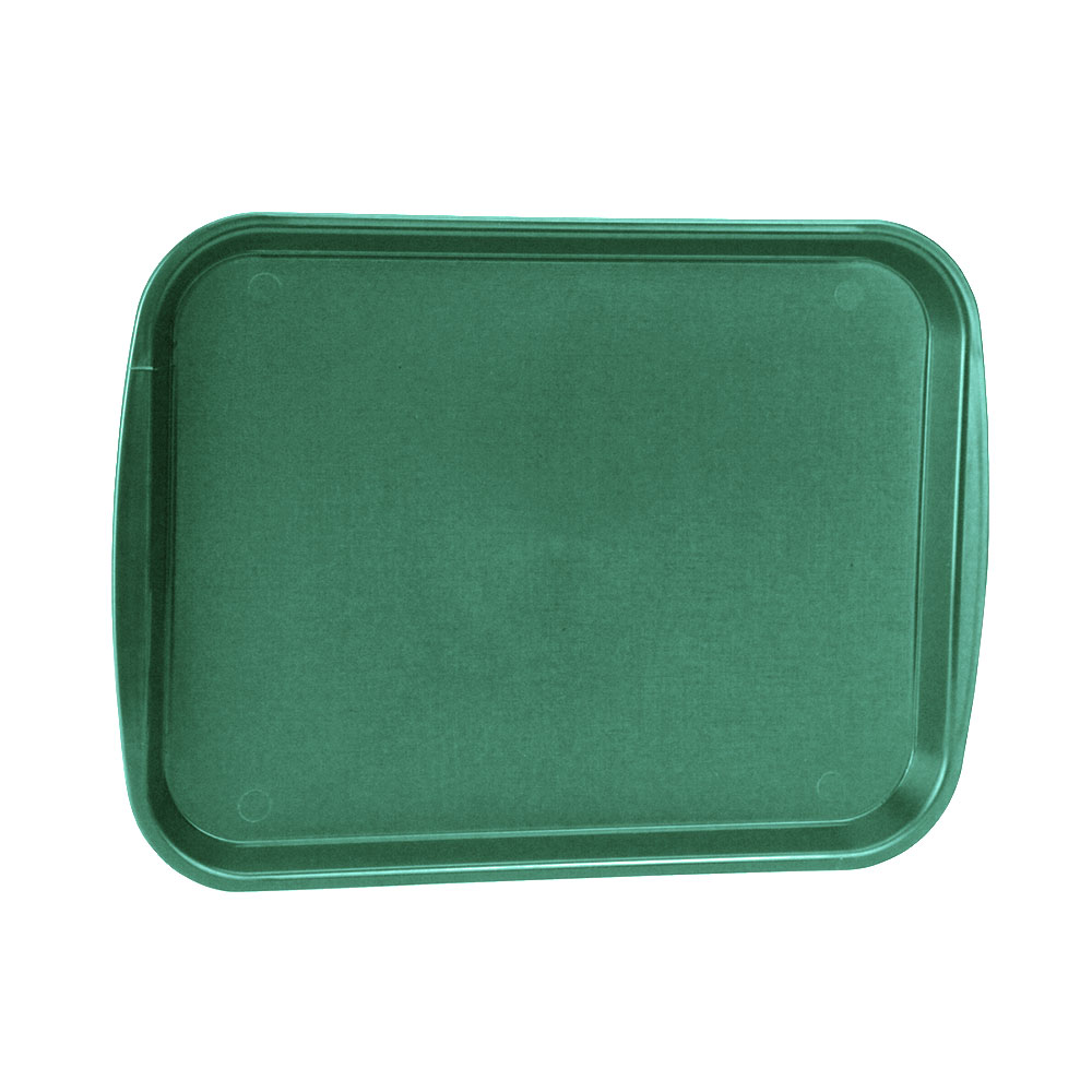 "Vollrath 1014-191 Rectangular Food Tray - Linen Look, 10-9/16 x 14-1/4"", Green"