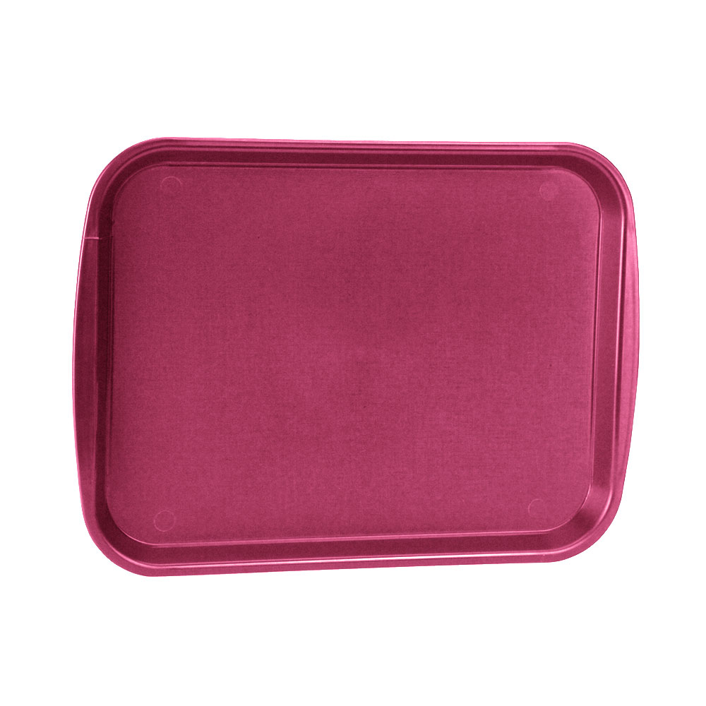 "Vollrath 1014-21 Rectangular Food Tray - Linen Look, 10-9/16 x 14-1/4"", Burgundy"