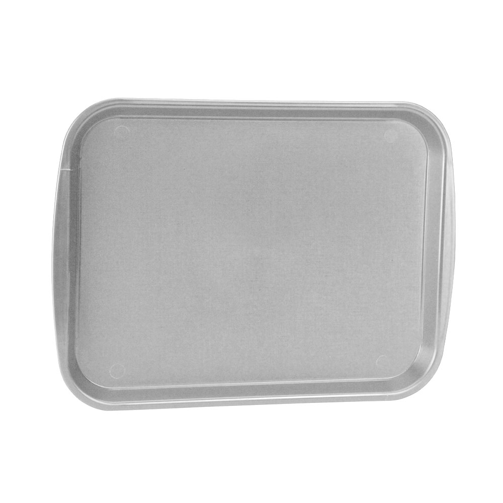 "Vollrath 1014-31 Rectangular Food Tray - Linen Look, 10-9/16 x 14-1/4"", Gray"