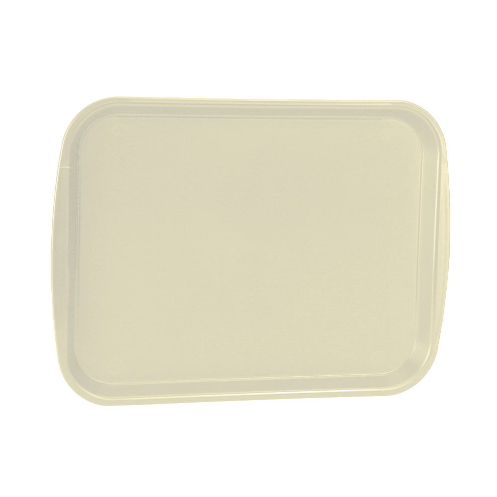 "Vollrath 1014-32 Rectangular Food Tray - Linen Look, 10-9/16 x 14-1/4"", Beige"
