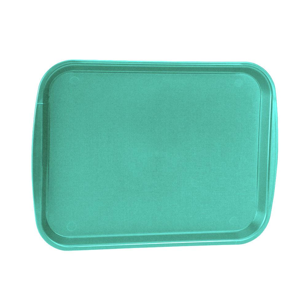 "Vollrath 1014-33 Rectangular Food Tray - Linen Look, 10-9/16 x 14-1/4"", Teal"