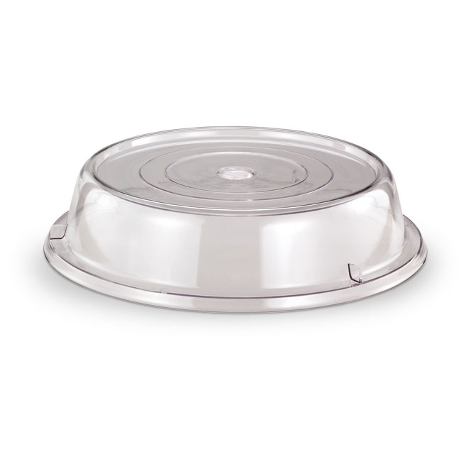 "Vollrath 1038-13 Plate Cover - Fits 10-1/8-10-3/8"", Poly, Clear"