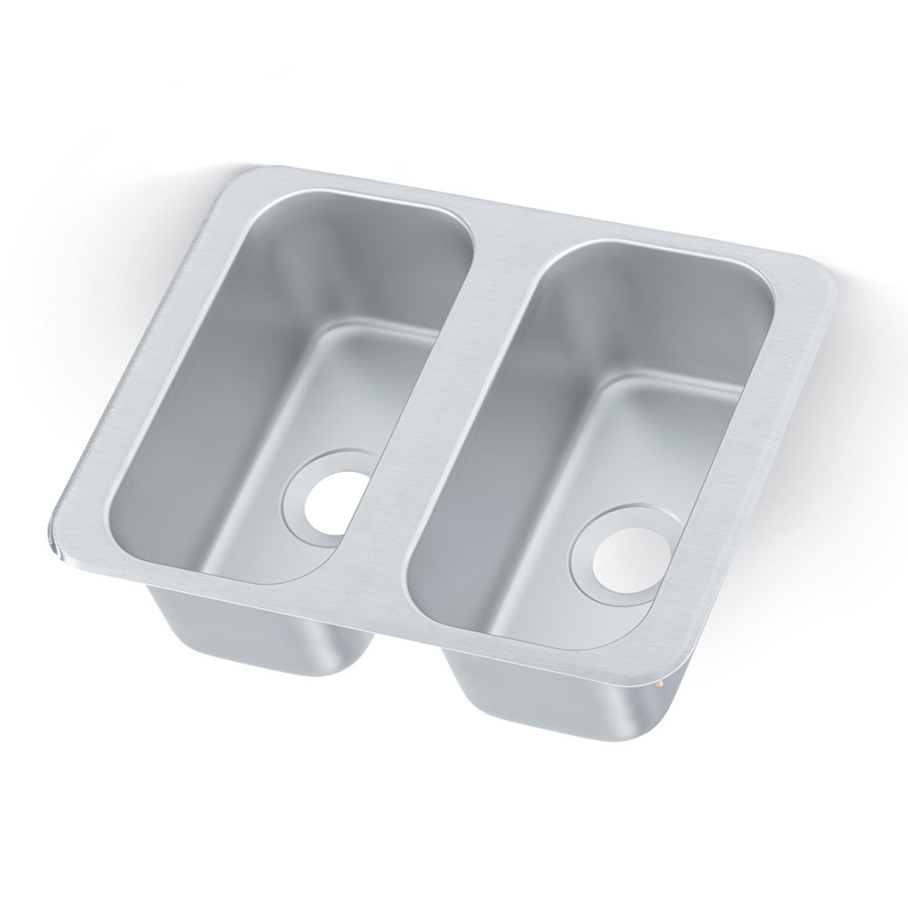 "Vollrath 12065-2 (2) Compartment Drop-in Sink - 6.125"" x 12.125"""