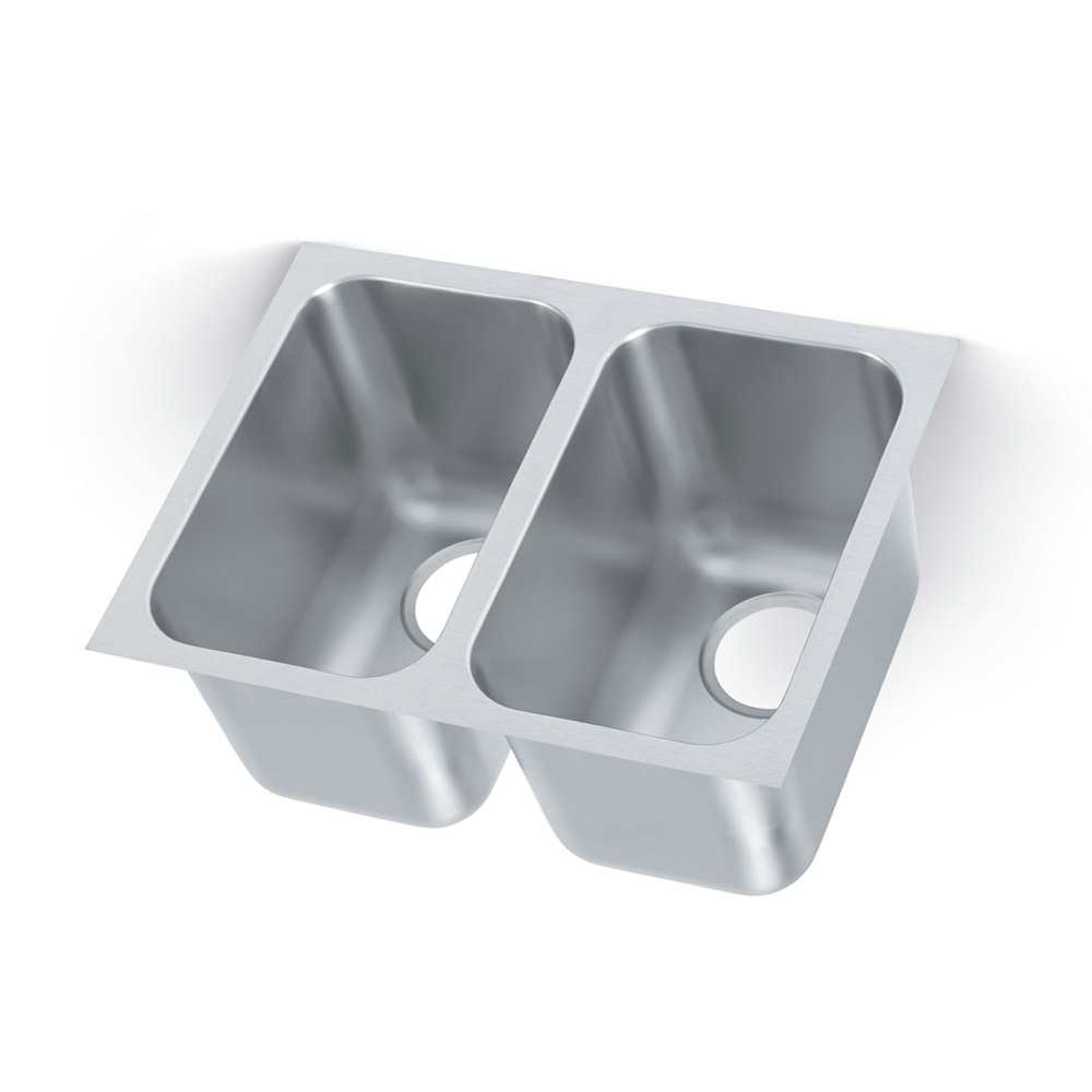 Vollrath 12102-1 2-Compartment Institutional Drop-In Sink w/ Square Corners